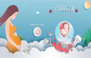 أعراض الحمل في الشهر السابع بالتفصيل وحركة الجنين في الشهر السابع من الحمل