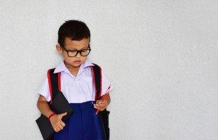 اليوم الأول للطفل في المدرسة