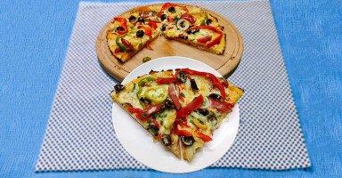 بيتزا بالخضار