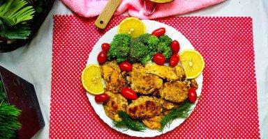 طريقة عمل دجاج مشوي للرجيم بالأعشاب والليمون