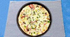 البيتزا العادية قبل الفرن