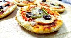 بيتزا للأطفال وللوجبة المدرسية بيتزا خضار ميني