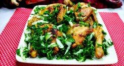 تزيين الدجاج المشوي