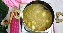 طبخ حبوب المغربية بالدجاج