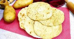 خبز البطاطس بالطحين
