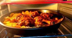 شوي صينية الدجاج بالبطاطا