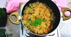 صورة الرز الصيني المقلي بالصويا
