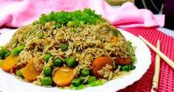 صورة طبق الأرز الصيني المقلي بالخضار