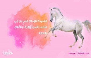"""قصيدة للإمام علي بن أبي طالب """"المرءُ يُعرَفُ بالأنامِ بفعلِهِ"""""""